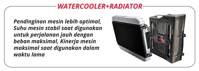 Nozomi Azabu 150 CC EC Watercooler and Radiator