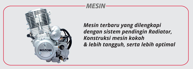 Azabu 200 Watercooler Mesin