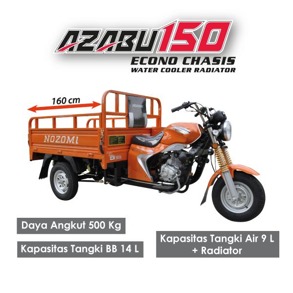Nozomi Azabu 150 CC Econo Chasis Water Cooler Radiator hitam