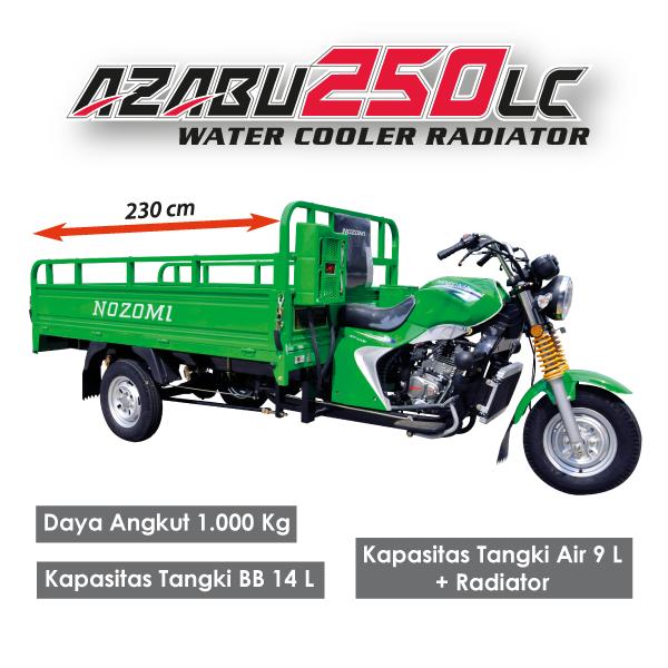 Nozomi Motor Roda Tiga Azabu 250 LC Water Cooler Radiator