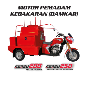 Motor Roda Tiga Nozomi Motor Pemadam Kebakaran Azubu 200, 250 Water Cooler Radiator