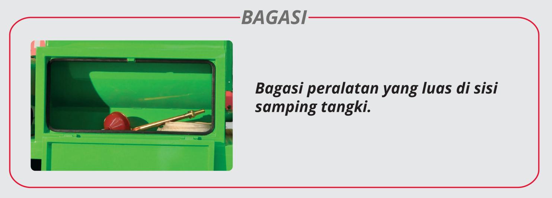 Motor limbah domestik Bagasi