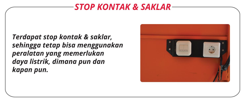 Motorlet Standart Plat Stop Kontak & Saklar