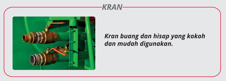 Motor limbah domestik Kran