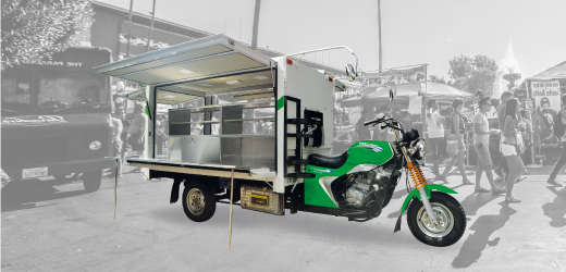 Motor Roda Tiga Nozomi Motorlet Deluxe LC Azubu 200, 250 Water Cooler Radiator