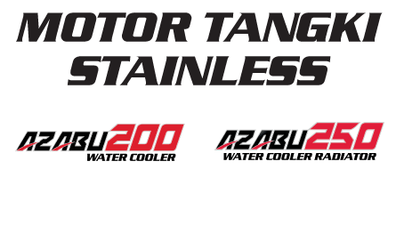 Nozmi Motor Tangki Stainless Azabu 200, 250 Water Cooler Radiator