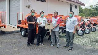 Serah Terima Unit Motor Disinfektan Untuk Kalimantan Tengah
