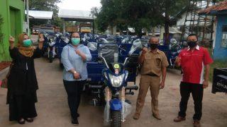 Serah Terima Motor Roda Tiga Nozomi Untuk Yayasan Semaul & DLH Subang